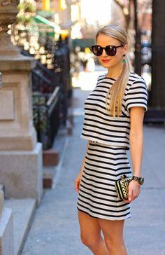 black + white stripes // crop top // #styledsnapshots