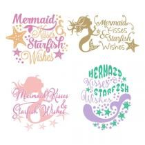 Mermaid Kisses SVG Cuttable Designs