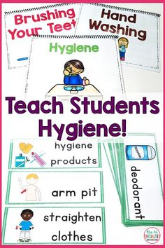 Teach students about hygiene to build crucial life skills in students with disabilities. Students learn the language and vocabulary associated with taking care of our bodies, keeping our bodies clean and proper hygiene. These health resources are ideal for special education classrooms, life skills programs, speech therapy, homeschools, students with autism and multiply disabled students.