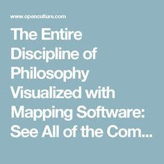 The Entire Discipline of Philosophy Visualized with Mapping Software: See All of the Complex Networks