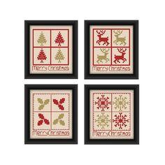 Christmas cross stitch pattern set Christmas card by CottonSeason