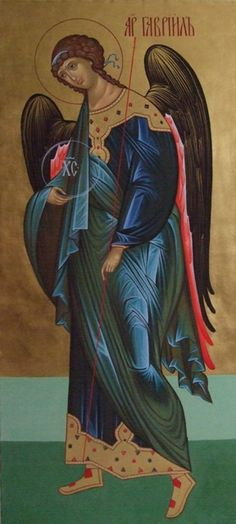 Archangel Gabriel, Archangel Michael, Religious Icons, Religious Art, Seraph Angel, Greek Icons, Angel Warrior, Religious Paintings, Byzantine Icons