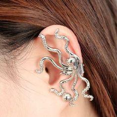 Fashion and Stylish Rhinestone Inlaid Octopus Shape Earring