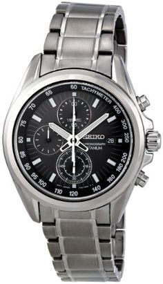 Seiko Men's SNDC91 Charcoal Dial With Chronograph Watch *** Be sure to check out this awesome product.