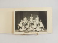 Vintage-Black-White-Photograph-Young-Ballerina-Girls-in-Their-Tutus