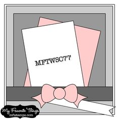 MFT Wednesday Stamp Club Sketch No. 77. #cards #sketch #card_making #scrapbooking