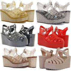 Jelly-Sandals-High-Wedge-Heels-Design-Comfortable-Shoes-Cute-Glitter-Style