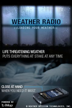 iMap Weather Radio, turns you iPhone, iPad or iPod Touch into a weather radio.