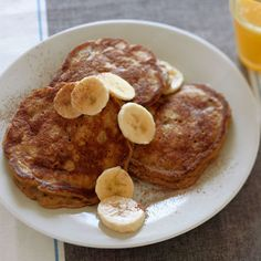 Banana Pancakes from Delish.com #fruit #myplate