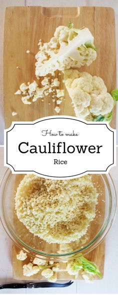 Learn How to make Cauliflower rice ! A great alternative if you are looking to reduce your carbs intake !