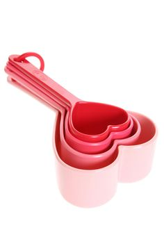 Heart Measuring Cup - Set Of 4 - AGAIN if you really have your heart into baking something sweet for your sweet on V-Day. <3