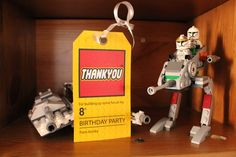 Lego Thank you tags.