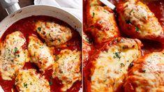 Kuře v rajčatové omáčce s mozzarellou Mozzarella, Cauliflower, Good Food, Fresh, Meat, Chicken, Vegetables, Ethnic Recipes, Cauliflowers