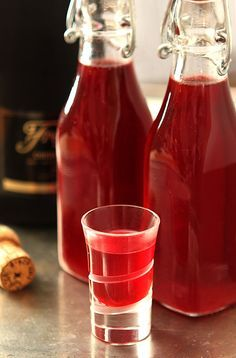 Without a doubt my favorite liqueur; this post will show you how to make Handmade Cranberry Liqueur. So easy, so beautiful and SO good!