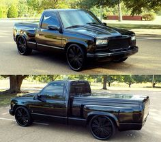 Black out Chevy truck