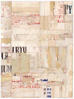 """Lisa Hochstein Unadorned-2 9"""" x 12"""" salvaged paper"""