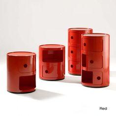 Componibili Storage Unit by Kartell Luxury Furniture, Furniture Design, Modular Furniture, Bedroom Furniture, Furniture Ideas, Home Design Software, Metallic Top, Philippe Starck, Museum Of Modern Art