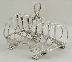 English Sterling Silver William IV toast rack Crispin Fuller 1832