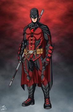 Tim Drake Batman, Tim Drake Red Robin, Robin Dc, Batman Robin, Batman Art, Timothy Drake, Robin Costume, Dc Anime, Superhero Villains