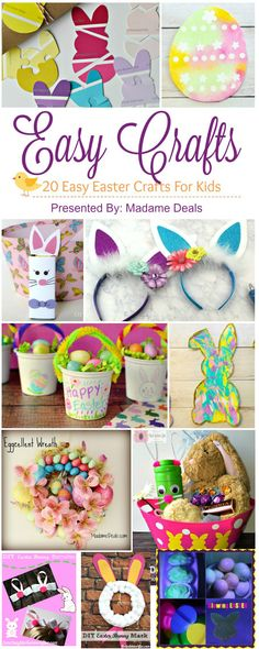 Celebrate Easter with kids by making fun crafts. Check out my list of our favorite Easy Easter Crafts Holiday Crafts, Holiday Fun, Easy Crafts, Diy And Crafts, Holiday Ideas, Easter Crafts For Kids, Craft Activities For Kids, Easter Decor, Easter Ideas