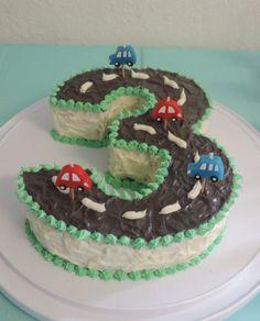 Transportation Party Cake