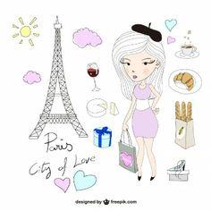 Paris illustrations pack