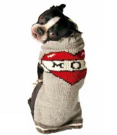 Chilly Dog Tattooed Mom Dog Sweater X-Large