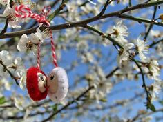 Baba Marta Day ··· photo by Photo-forum Baba Marta, Christmas Ornaments, Holiday Decor, Spring, Crafts, Bulgarian, Felting, Festivals, Events