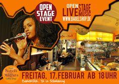 Endlich! Die nächste #OpenStage steht an :-) Lust auf #LiveMusic ? Dann, ab ins Fresh Bagels & Muffins. Ab 18 Uhr gehts im #bagelshop los!  www.bagelshop.de