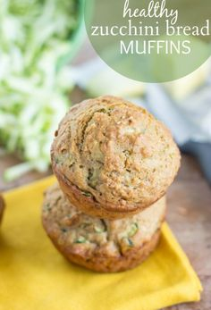 Healthy Zucchini Bread Muffins from Chelsea's Messy Apron  A zucchini bread muffin that is made with good-for-you and natural ingredients. These muffins have very little added sugar and no oil, butter, or egg yolks.
