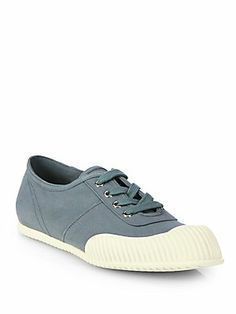 Prada Canvas Lace-Up Sneakers