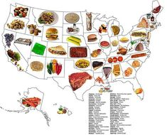 Food each state is known for...