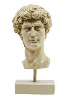 G604: Michel ange, Tête de David, Antique Buste de Polystein