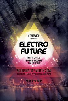 Electro Future Flyer by styleWish on Graphicriver (PSD Template)