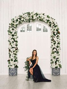 What a DREAM! This beautiful floral arch was designed by Posh floral Designs. Bridesmaid dress by Bella Bridesmaids. Photogrpahy by Tracy enoch Photography. #weddingarch #floralarch #bridesmaid #dress #wedding