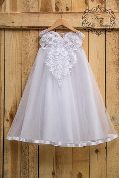 White first communion dresses lace flower girls tulle dress lace flower girls tutu dress rustic flower girl country flower girl dresses Flower Girl Dresses Country, Girls Tutu Dresses, Flower Girl Tutu, Lace Flower Girls, Tutus For Girls, Flower Dresses, Tulle Dress, Lace Dress, Tulle Lace