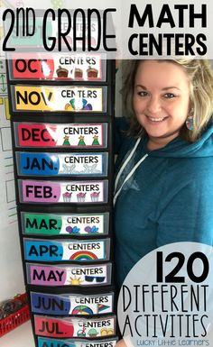 Math centers are the perfect resource for your guided math time.  There are 120 math centers in this set and they include both a full color and black and white option.  All math centers come with a recording sheet for accountability.  They are aligned to the 2nd grade math standards.