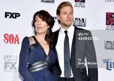 Katey Sagal and Charlie Hunnam at the SOA Season 7 red carpet event on 9/6/14