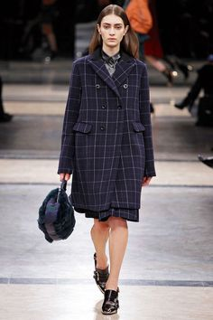 Plaid Pattern Print #Coat #Fashion #Trend for Fall Winter 2013  Sacai F/W 2013