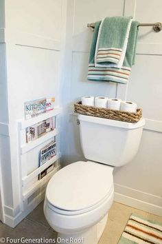 Magazine Rack Wall:  Simplify your space and remove clutter by mounting a magazine rack on your wall.
