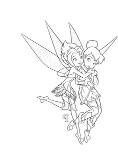 Tinker Bell And Periwinkle Coloring For Kids