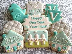 Sugar Cookies With Royal Icing Designs Related To New Home.