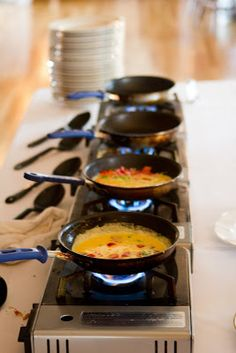Wedding Brunch Reception - Omelette Station - Photo Courtesy of Brian Samuels Photography