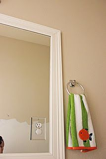 DIY Mirror Frame - I have done this to one mirror in my house - one mirror to go!