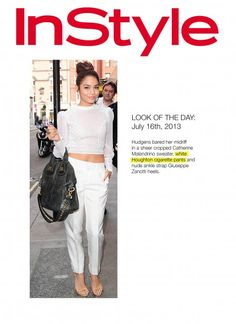 InStyle Magazine Press Look of the Day Vanessa Hudgens wears Houghton cigarette pants