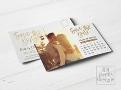 Photo save the date calendar printable save the date design