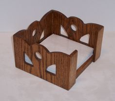 napkin holder made from solid oak for your table top by tomroche - Napkin Holders