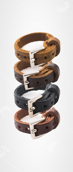 The new Leather Ring in all Four Colors | Full Grain Leather | 41 Year Warranty | $12.00