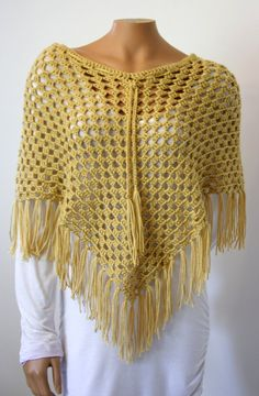 Crochet Poncho by SweetNothingsStitch on Etsy, $28.00