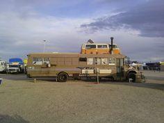 Hippy camper in Az. Cool!